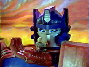"The Optimus Prime puppet from the so-called ""Season 5"""
