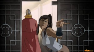 Korra does the Dio devil horns