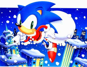 True fact: The color of Sonic's shoes are based on Santa Claus.