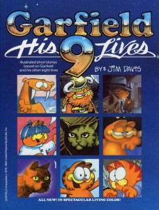 Bottom left corner.  Someone made a weird Garfield cartoon.